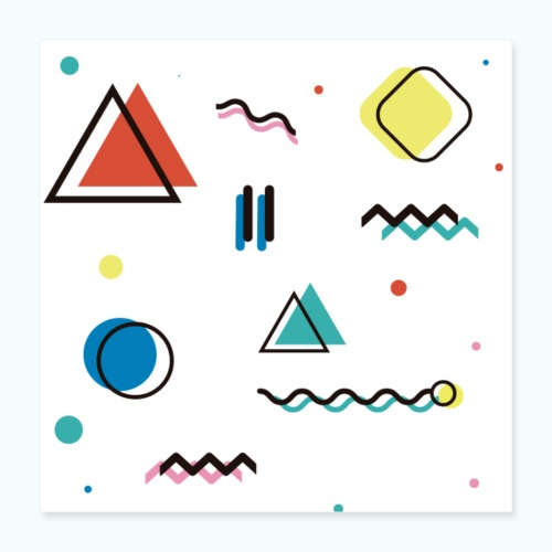 Abstract geometry - Poster 16 x 16 (40x40 cm)