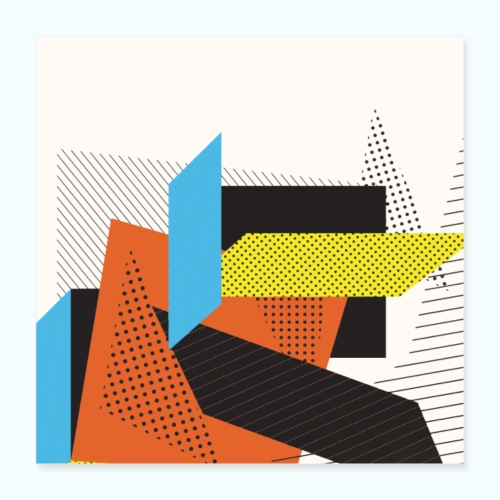 Vintage shapes abstract - Poster 16 x 16 (40x40 cm)