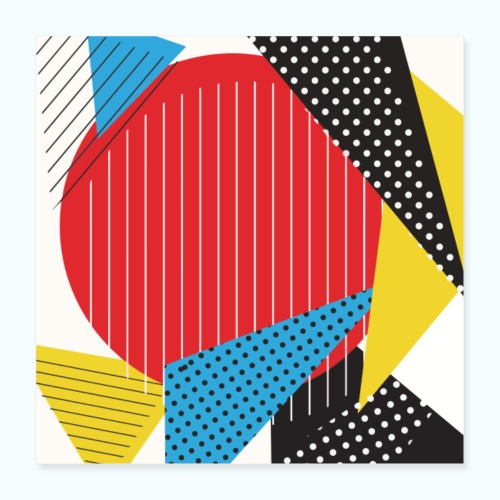 Geometry collage Abstract colors - Poster 16 x 16 (40x40 cm)