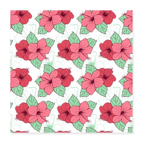 Blumen Malerei Kunst Kunstwerk Muster - Poster 40x40 cm