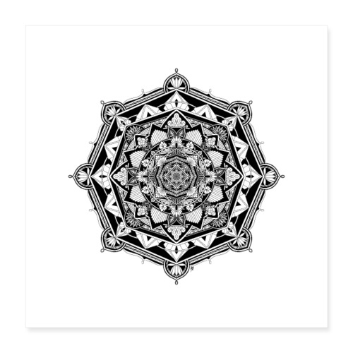 Poster: Mandala Asia - Poster 40 x 40 cm
