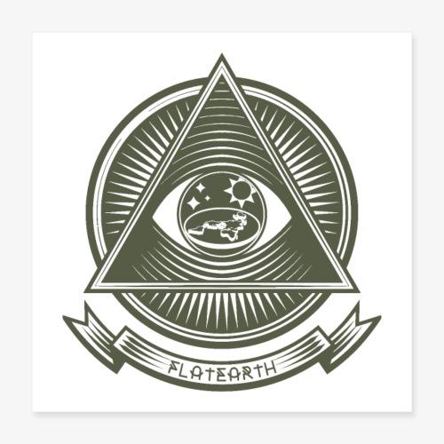 Illuminati Flat Earth - Poster 16 x 16 (40x40 cm)
