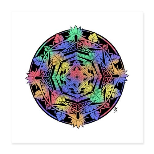 Mandala Colorful - Poster 40 x 40 cm
