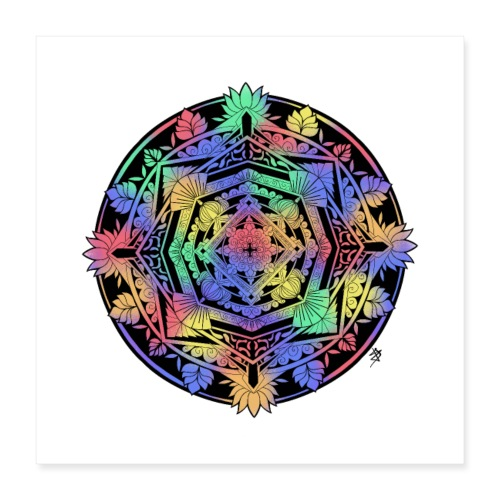 Mandala Colorful - Poster 40 x 40 cm