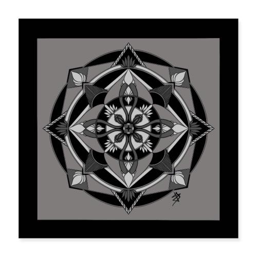 Mandala Mosaïque - Poster 40 x 40 cm