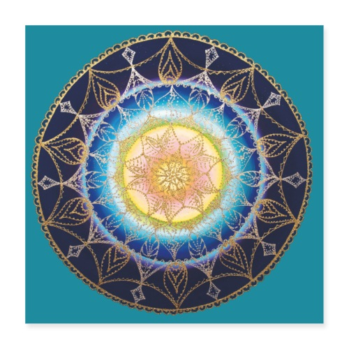 SoulArt Mandala Sternenkind - Poster - Poster 40x40 cm