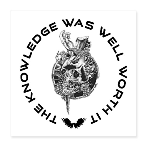 Knowledge WhiteSkull - Juliste 40 x 40 cm