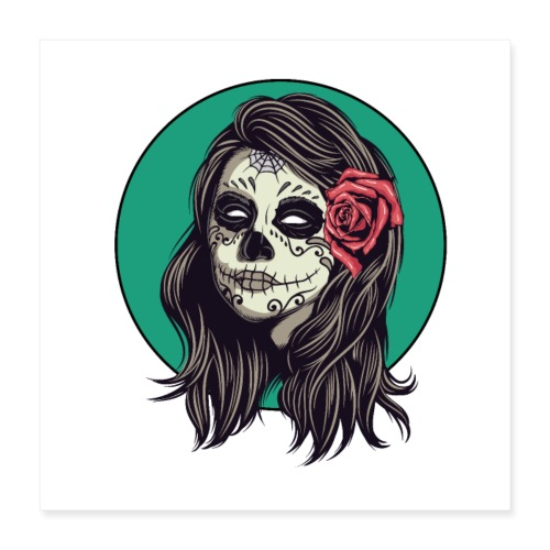 Tête de mort mexicaine - Poster 40 x 40 cm
