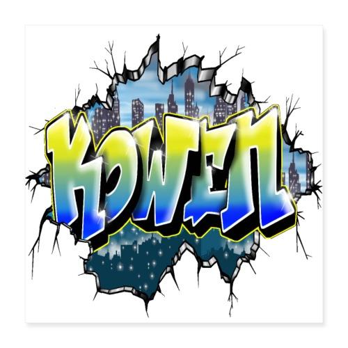 Kowen Graffiti Tag by Max le Tagueur - Poster 40 x 40 cm