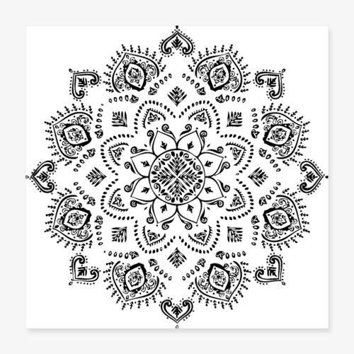 Mandala - Poster 16 x 16 (40x40 cm)