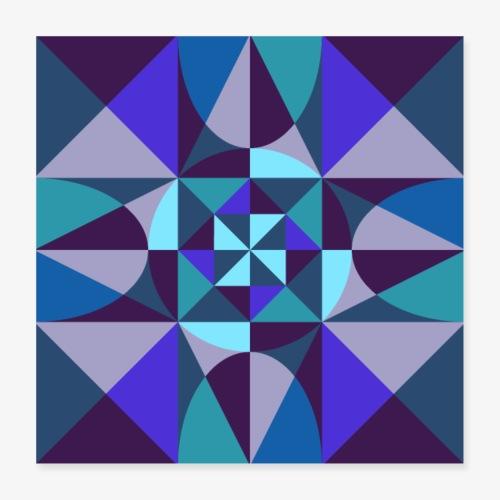 Geometric retro poster 01 - Plakat o wymiarach 40 x 40 cm