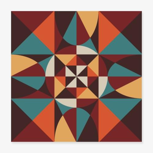 Geometric retro poster 02 - Plakat o wymiarach 40 x 40 cm
