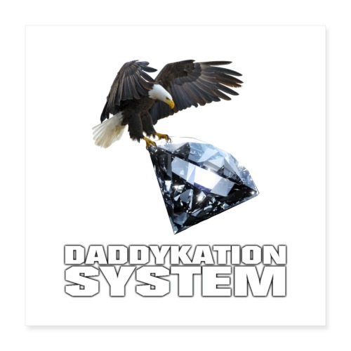 DADDYKATION SYSTEM // LOGO - Poster 40x40 cm