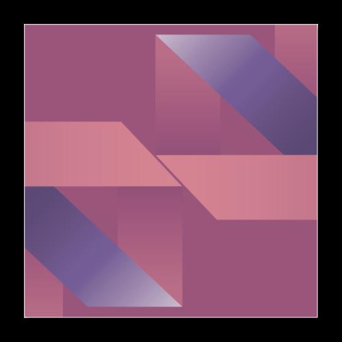 Abstrakt Geometrische Vintage Komposition - Poster 16 x 16 (40x40 cm)