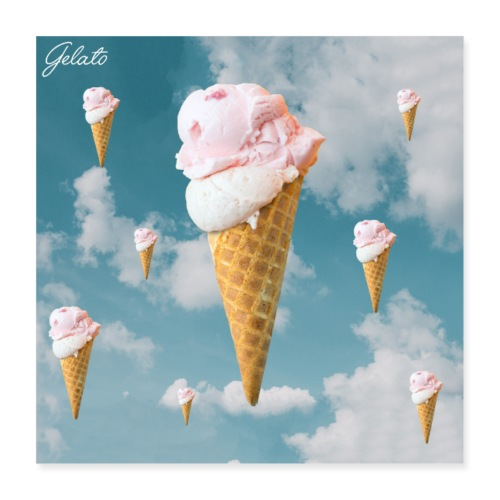 Gelato EP Cover - Poster 40x40 cm