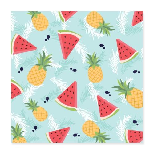 Summer Fruits - Poster 40x40 cm