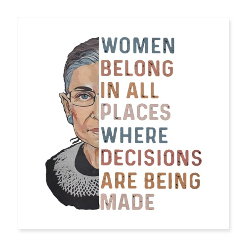 Ruth Bader Ginsburg RBG - Poster 40x40 cm