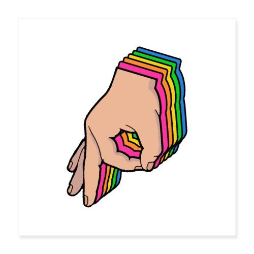 The Circle Game Rainbow - Poster 16 x 16 (40x40 cm)