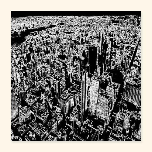 Manhattan a gessetto - Poster 40x40 cm