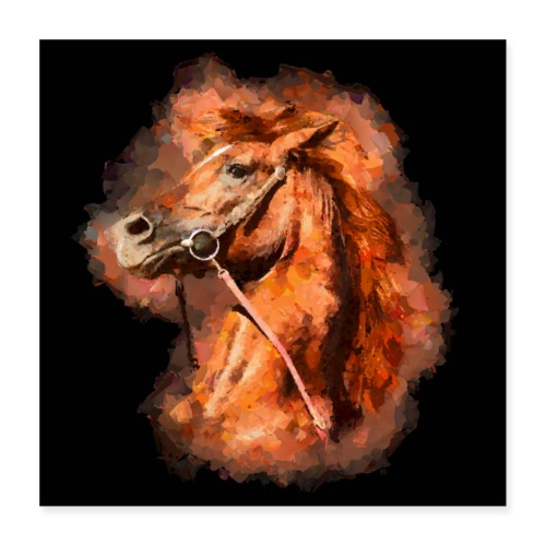Thoroughbred horse - Poster 16 x 16 (40x40 cm)