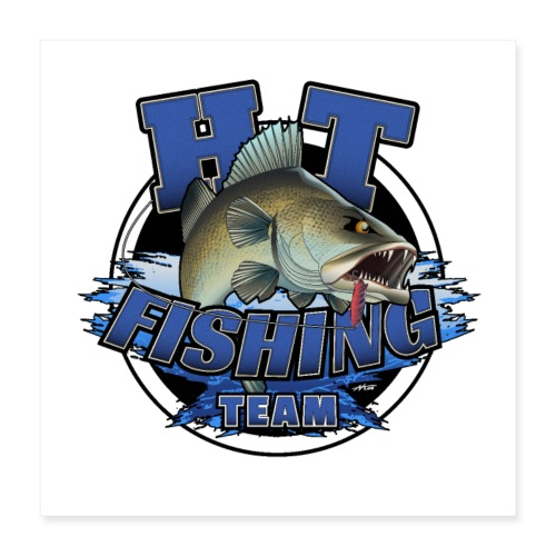 HT Fishing Team - Juliste 40 x 40 cm