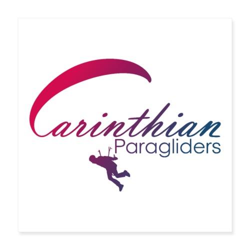 Carinthian Paragliders Logo 2019 - Poster 40x40 cm