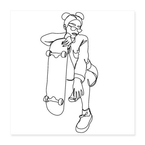 SKATER GIRL - Poster 40x40 cm