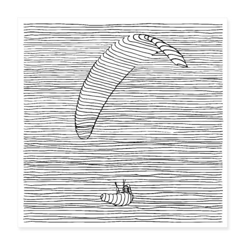 Paraglider - Poster 40x40 cm