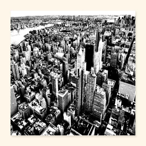 Manhattan in bianco e nero - Poster 40x40 cm