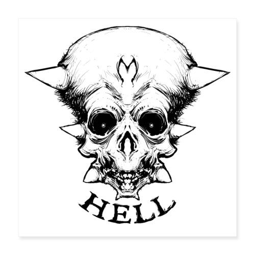 Skull - Poster 40 x 40 cm