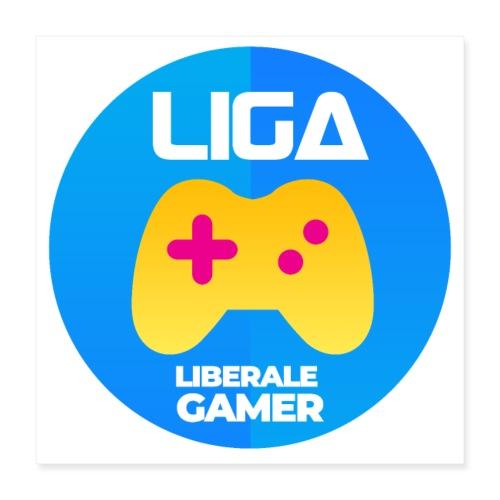Liberale Gamer Wappen - Poster 40x40 cm