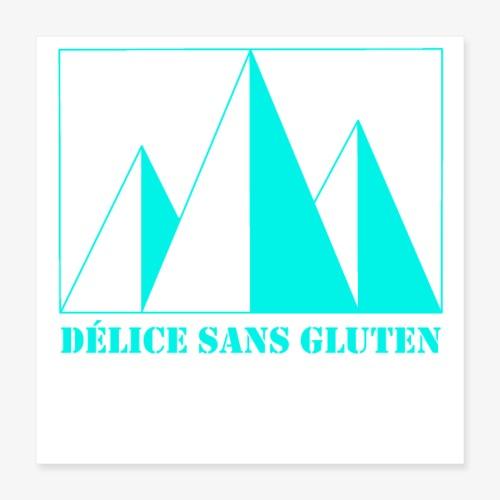 Snow Mountain ! Délice sans gluten - Poster 16 x 16 (40x40 cm)