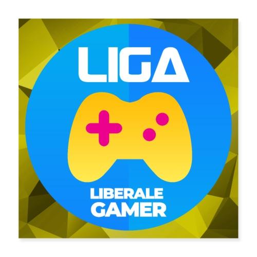 Logo mit Hintergrund - Poster 40x40 cm