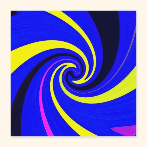 Vortice giallo - Poster 40x40 cm