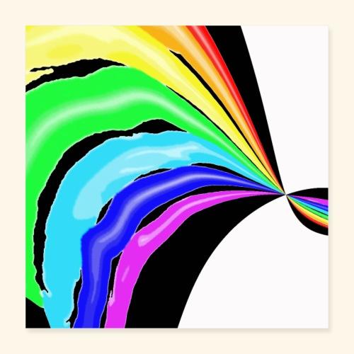 Arcobaleno pop - Poster 40x40 cm