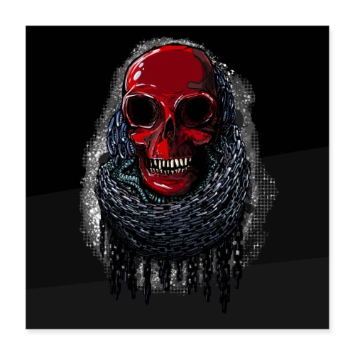 Red Skull Poster 1: 1 - Poster 16 x 16 (40x40 cm)