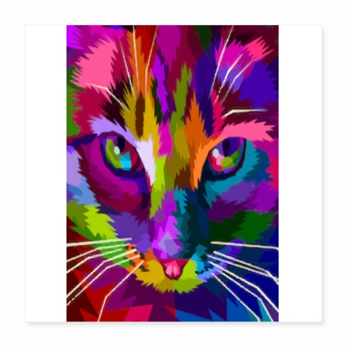 cat colors - Poster 40 x 40 cm