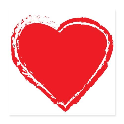 Hearts Love - Póster 40x40 cm