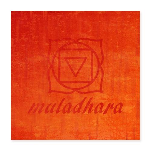 poster muladhara chakra hindu tantrism India yoga - Poster 40x40 cm