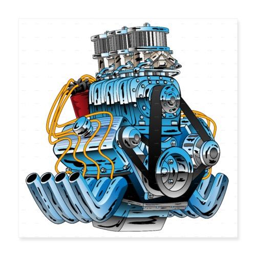 Motor - Poster 40x40 cm