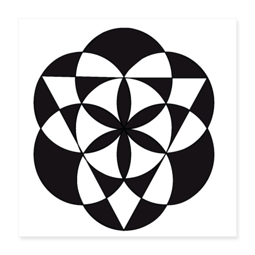 diseño de figuras geométricas - Póster 40x40 cm