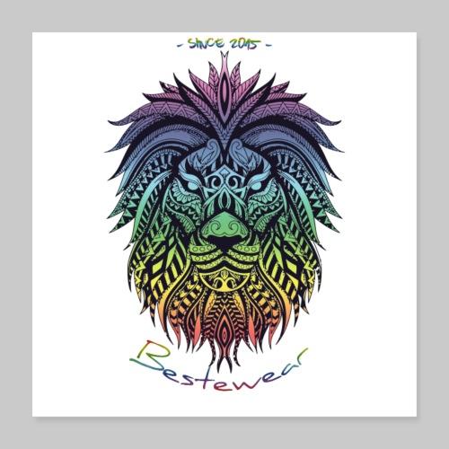 #Bestewear Color Lion - Poster 40x40 cm