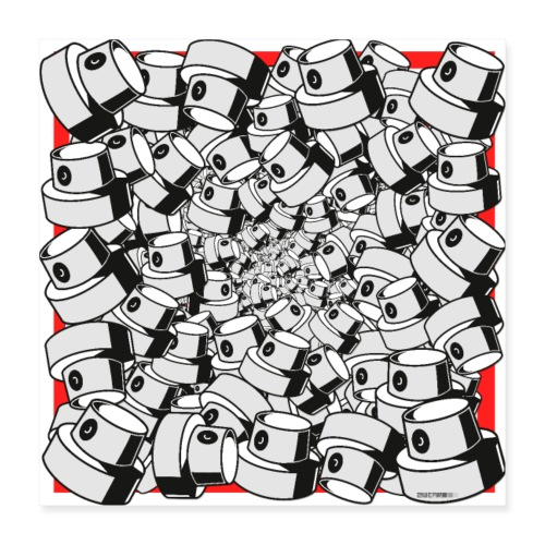 graffiti fap caps infinity square print sp tryk 3 - Poster 40x40 cm