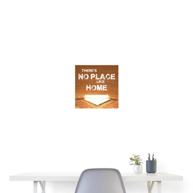 There´s no place like home - Baseball Poster