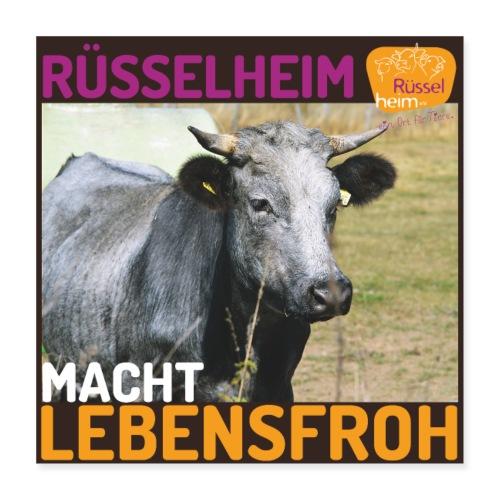 Rüsselheim macht lebensfroh - Poster 40x40 cm