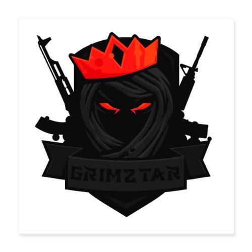 Grimztar Logo - Poster 40x40 cm