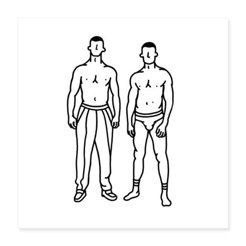 Boys - Poster 40 x 40 cm