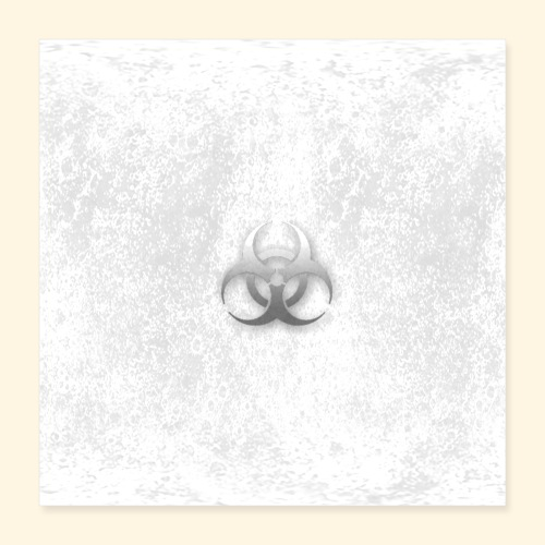 Biogefährdung Piktogramm in grau - Poster 40x40 cm