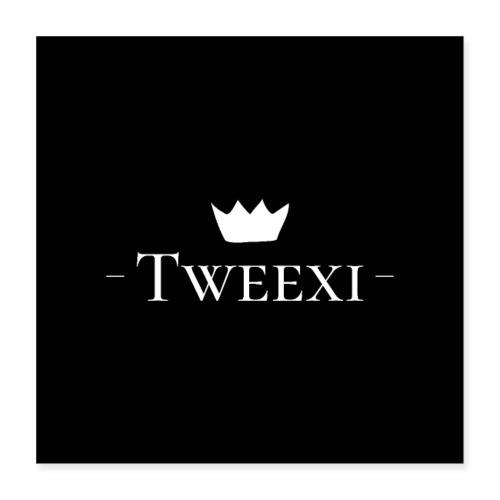 Tweexi logo - Poster 40x40 cm