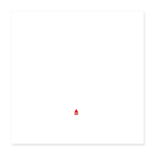 YE Logo White - Poster 16 x 16 (40x40 cm)